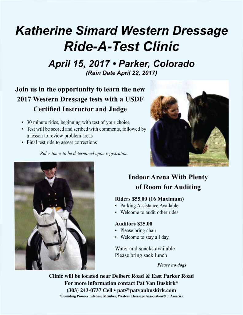 Katherine Simard Ride-A-Test Clinic @ Parker | Colorado | United States