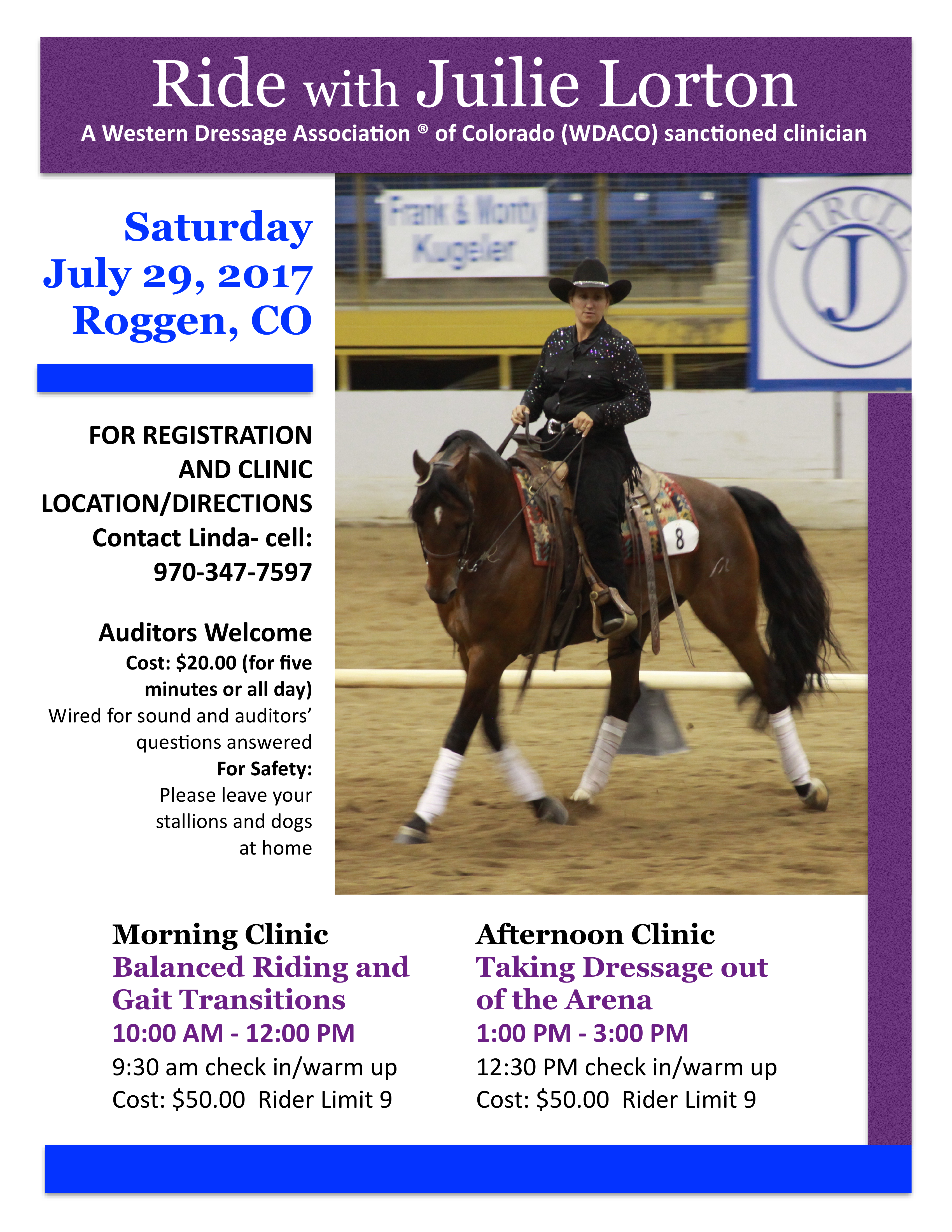 Western Dressage with Juilie Lorton @ Roggen | Colorado | United States