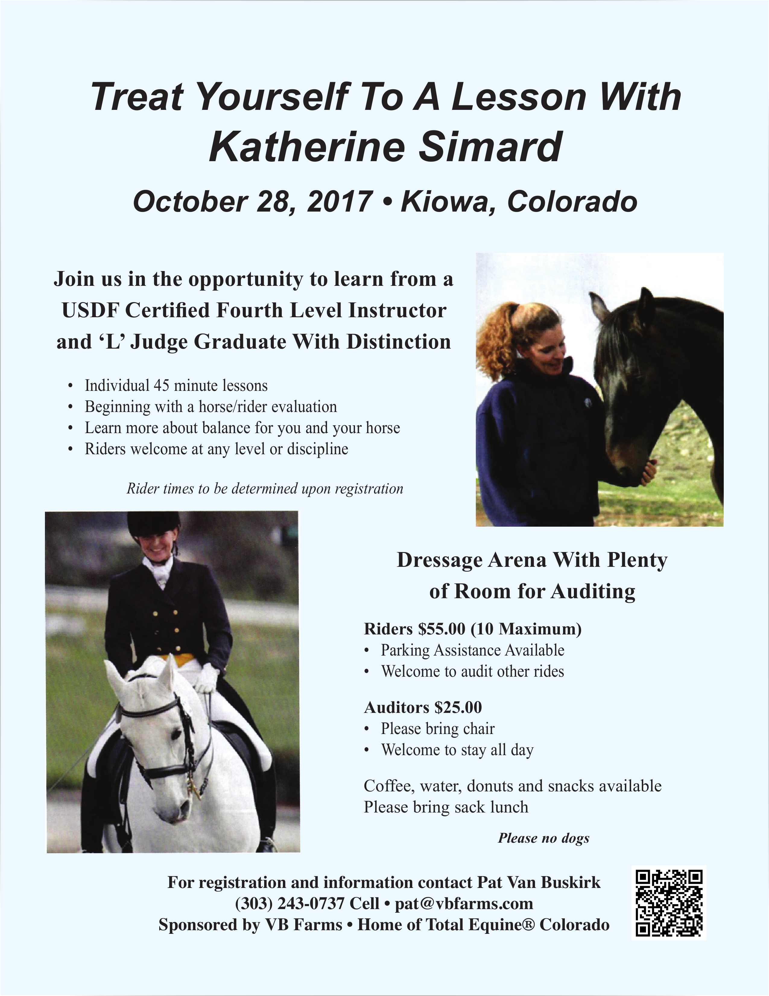 Katherine Simard Clinic @ VB Farms | Kiowa | Colorado | United States